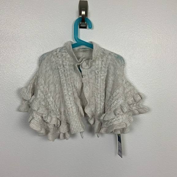Toddler Girls/'  Cream Poncho Sweater Genuine Kids from OshKosh Size 5T NWT